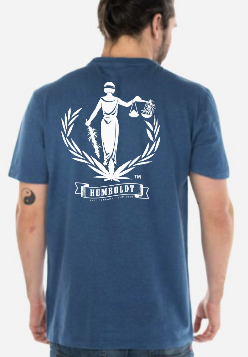 Hemp Humboldt Seed Lady Ganga Tee Earth Blue